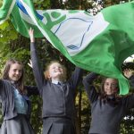 CMK16052016  REPRO FREE NO FEE  Éabha Cunningham, Kate Flemming and Ella O'Reilly of Dromahane NS at the presentation of Green Flags by An Taisce Green-Schools are pictured with Aisling Buckley from Irish Water  today at Radisson Blu Hotel, Little Island, Cork,   Dromahane NS was awarded their Green Flag for the Water theme, which is sponsored and supported by Irish Water. This year schools in Ireland saw an average 28.5% decrease per person in water usage – enough water to make 450 million cups of coffee - thanks to their involvement in the Water theme. This year 191 schools across Ireland will be awarded the Green Flag for the Water theme; 21 of which were awarded to schools from Cork today.  Picture: Clare Keogh  Further INFO   Ciara Norton Communications Officer, Green-Schools Environmental Education Unit An Taisce - the National Trust for Ireland T:  +353 (0)1 4002222 E:  cnorton@eeu.antaisce.org W: www.greenschoolsireland.org