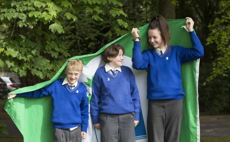 CMK16052016  REPRO FREE NO FEE  Cian Looney, and Siobhan Burke and Michaela Chawke of Shanballymore NS Mallow  are pictured at the presentation of Green Flags by An Taisce Green-Schools are pictured today at Radisson Blu Hotel, Little Island, Cork,   Picture: Clare Keogh  Further INFO   Ciara Norton Communications Officer, Green-Schools Environmental Education Unit An Taisce - the National Trust for Ireland T:  +353 (0)1 4002222 E:  cnorton@eeu.antaisce.org W: www.greenschoolsireland.org