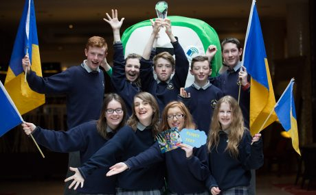 Students from Coláiste Íosagáin, Portarlington, overall winners of the BIG TRAVEL Challenge 2016