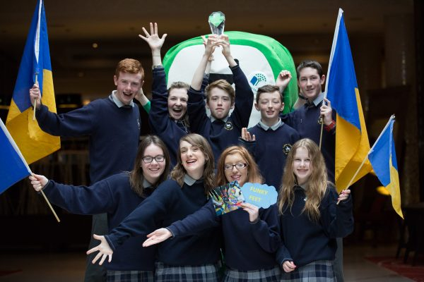 Students from Coláiste Íosagáin, Portarlington, overall winners of the BIG TRAVEL Challenge 2016